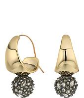 Alexis Bittar - Liquid Gold Crystal Accented Infinity Hoop Earring