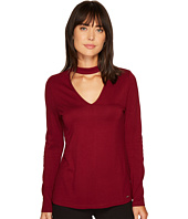 Ivanka Trump - Choker Neck Long Sleeve Shirt