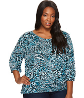 MICHAEL Michael Kors - Plus Size Big Cat Peasant Top