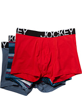 Jockey - Cotton Low Rise Stretch No Ride Boxer Brief 3-Pack