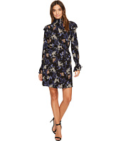 Donna Morgan - Long Sleeve Smocked Neck Dress