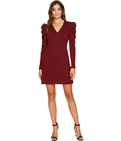 Donna Morgan - V-Neck Sheath Dress with Puff Sleeve