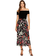 Donna Morgan - Off Shoulder Maxi Dress with Pleated Skirt