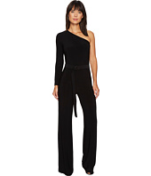KAMALIKULTURE by Norma Kamali - One Shoulder Jumpsuit with Mid Belt