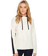 ROMEO & JULIET COUTURE - Two-Toned Knitted Hooded Sweater