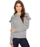 ROMEO & JULIET COUTURE - Ruffle Shoulder Sweater