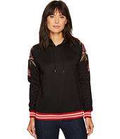 ROMEO & JULIET COUTURE - Hooded Sweater with Embroidered Patch on Shoulders