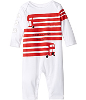 Burberry Kids - Red Bus Graphic Overall (Infant)