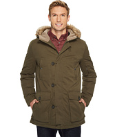 Kenneth Cole New York - Poly Cotton Parka with Faux Sherpa Trim and Faux Fur Hood