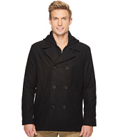 Kenneth Cole New York - Double Peacoat with Jersey Knit Hooded Inner Vestie