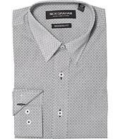 Nick Graham - Square Hole Print Stretch Shirt