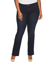 KUT from the Kloth - Plus Size Natalie High-Rise Bootcut in Immeasurable/Euro Base Wash