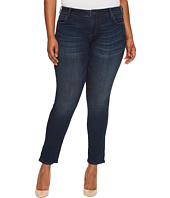 KUT from the Kloth - Plus Size Catherine Boyfriend Five-Pocket in Carefulness/Euro Base Wash