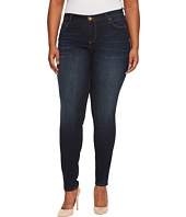 KUT from the Kloth - Plus Size Diana Skinny Five-Pocket in Blinding/Euro Base Wash