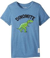 The Original Retro Brand Kids - Dinomyte Short Sleeve Heather Tee (Little Kids/Big Kids)