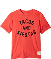 The Original Retro Brand Kids - Tacos & Siestas Short Sleeve Heather Tee (Big Kids)