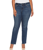 Jag Jeans Plus Size - Plus Size Adrian Straight Jeans in Crosshatch Denim in Thorne Blue