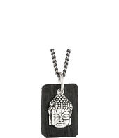 King Baby Studio - Meditating Buddha Pendant Necklace w/ Leather Tag