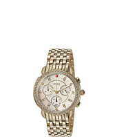 Michele - Sidney Diamond Bezel Gold Plated Stainless Steel Watch