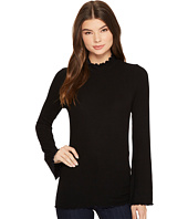 Three Dots - Viscose Rib Long Sleeve Turtleneck