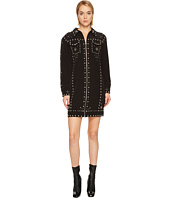 Jeremy Scott - Studded Crepe Moto Dress