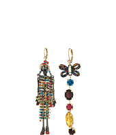 Betsey Johnson - Gold and Hematite Doll Earrings