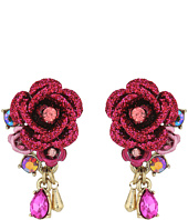 Betsey Johnson - Pink and Rose Gold Cluster Earrings