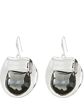 Robert Lee Morris - Black Diamond and Silver Drop Earrings
