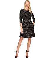 Taylor - Textured Knit Jacquard Dress