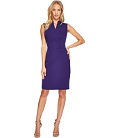 Tahari by ASL - V-Neck Side Ruche Sheath Dress