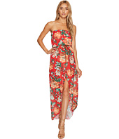 ROMEO & JULIET COUTURE - Floral Chiffon Dress with Belt