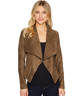 ROMEO & JULIET COUTURE - Suede Draped Collar Jacket