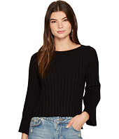 J.O.A. - Side Slit Flare Sleeve Sweater