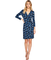 Calvin Klein - Printed 3/4 Sleeve Dress with Hardware Detail On Side CD7A2474