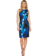 Calvin Klein - Square Print Starburst Sheath Dress CD7MWB4P