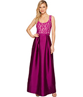 Sangria - Lace Empire Waist Bodice Ballgown Skirt Evening Gown
