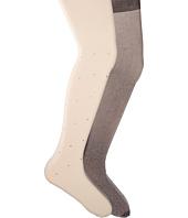 Jefferies Socks - Diamond & Lurex Tights 2-Pack (Little Kid/Big Kid)