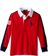 Polo Ralph Lauren Kids - Cotton Jersey Rugby Shirt (Little Kids/Big Kids)