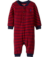 Ralph Lauren Baby - Striped Cotton Jersey Coverall (Infant)