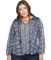 Lucky Brand - Plus Size Vintage Mixed Print Top