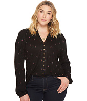 Lucky Brand - Plus Size Print Button Up Shirt