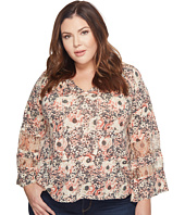 Lucky Brand - Plus Size Printed Mix Top