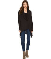 Michael Stars - Brooklyn Jersey Long Sleeve Cowl Neck Poncho with Asymmetrical Hem
