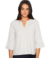 Michael Stars - Fletcher Stripe V-Neck Ruffle Sleeve Top