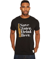 The Original Retro Brand - Save Water Drink Beer Short Sleeve Vintage Cotton Tee