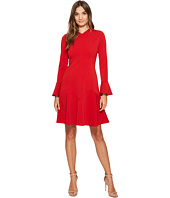 Maggy London - New Castle Knit Long Sleeve Fit & Flare Dress