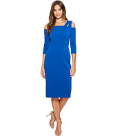 Maggy London - Drop Square Neck Midi Sheath