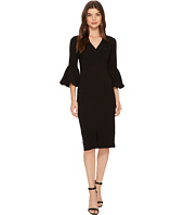 Maggy London - V-Neck Balloon Sleeve Sheath
