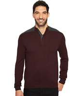 Perry Ellis - Color Block Quarter Zip Sweater