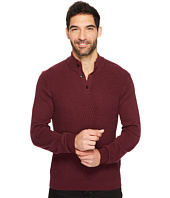 Perry Ellis - Solid Textured Mock Neck Sweater